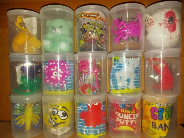 50 Assorted Toys In 55mm Vending Tubs